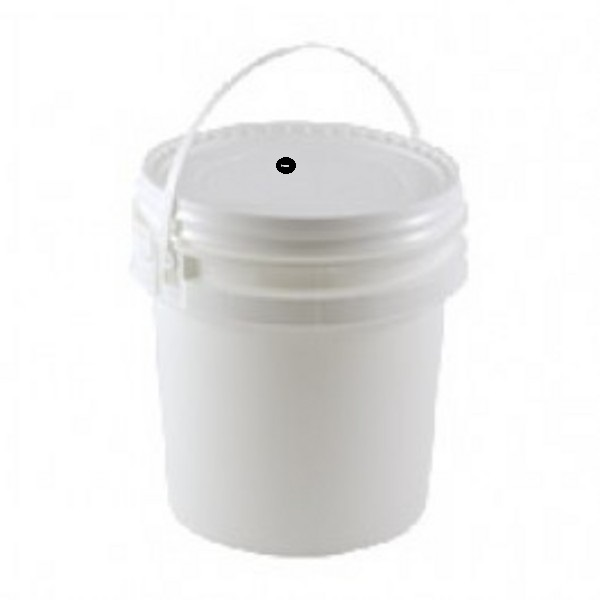 2 Gallon Bucket with drilled and grometed lid