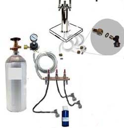 3 keg HB Freezer CO2 System w/Draft Tower (Ball Lock no kegs)
