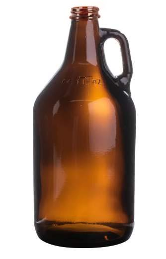 Amber Beer Growler (64 ounce screw top)