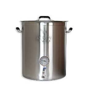 8 Gallon SS Brewers Beast Kettle w/Thermometer & Valve