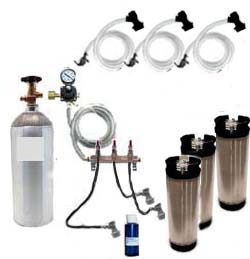 3 Keg Basic Homebrew CO2 System (Ball Lock)