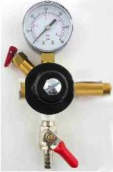 "Secondary Regulator 5/16""barb Shutoff, 60 Lb Gauge, 2 1/4� nip"