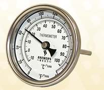 "Kettle Thermometer 1/2"" NPT (Fahrenheit and Celsius)"