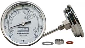 "BrewMometer Weldless Kettle Thermometer 1/4"" NPT (Celsius)"