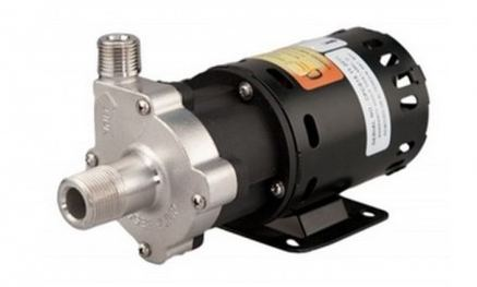 Chugger center input 3/4 GHT SS Magnetic Drive Pump 1/2 NPT Out