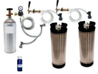 2 Keg Refrigerator Homebrew CO2 System (Ball Lock)