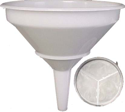 12'' Funnel with Strainer