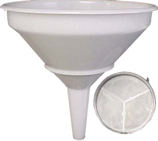 10'' Funnel with Strainer