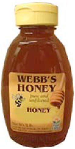 Webbs CentralFlorida Pure & Unfiltered Orange Blossom Honey 2lb