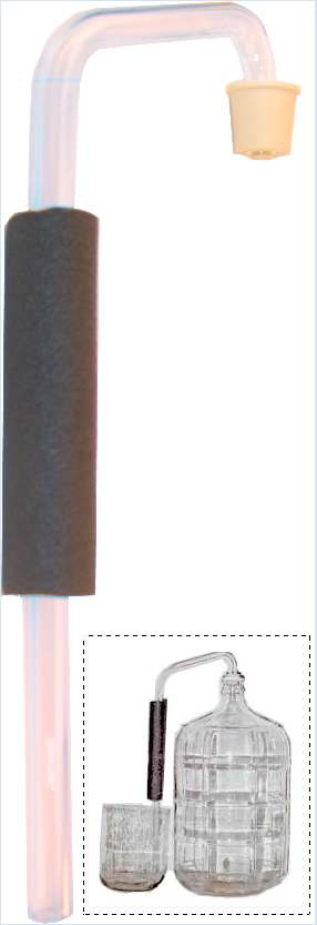JTS Glass Blowoff Tube for Glass Carboys