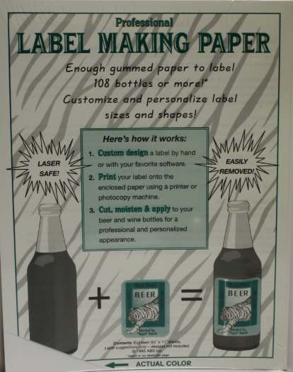 White or Blue Label-Making Paper (18 pack)