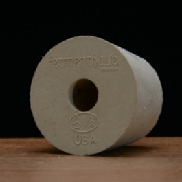 #6 1/2 Rubber Stopper Drilled for Airlocks