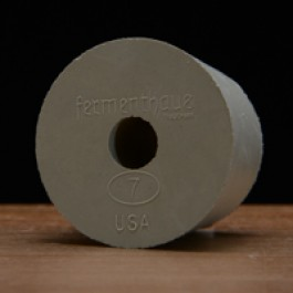 #7 Rubber Stopper (drilled)