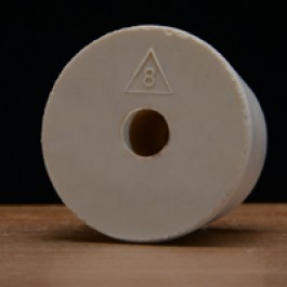 #8 Rubber Stopper Drilled for Airlocks