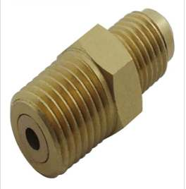 "Adapter, 1/4"" MPT X 1/4"" MFL w/ Ball Check"