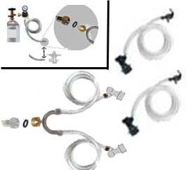 EZ Draft CO2 Line Splitter for Soda Kegs Kit