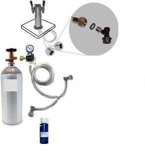 2 Keg HB Freezer CO2 System w/Draft Tower (Ball Lock no kegs)