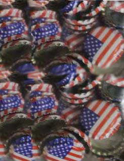 Oxygen Absorbing American Flag Crowns 144 count