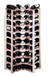 40 Bottle Redwood Corner Wine Rack.
